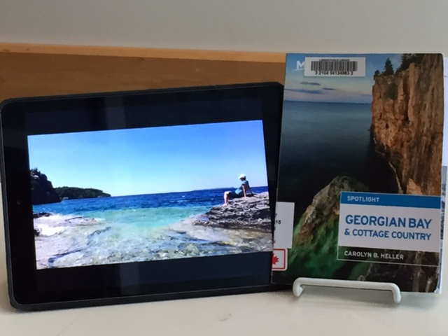 luanne's book and photo of georgian bay