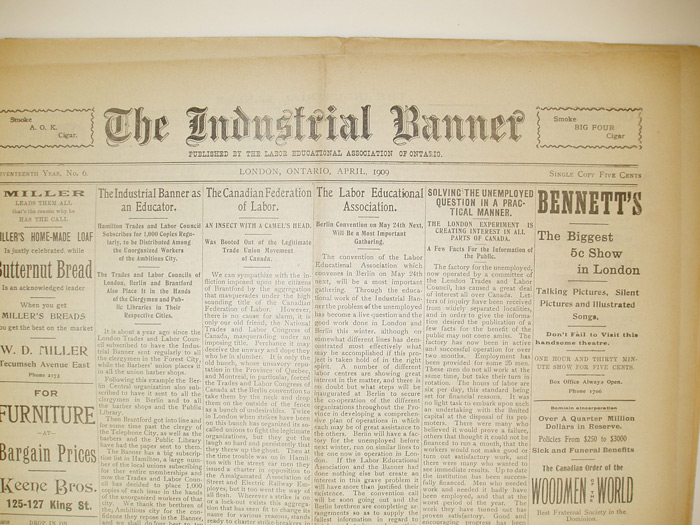 Research industrial banner labour newspaper fandeluxe Images