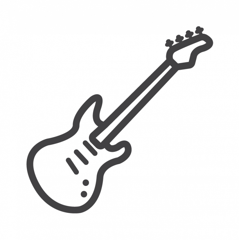bass guitar outline