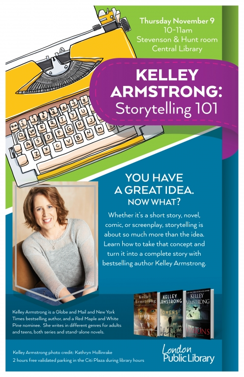 Kelley Armstrong storytelling 101 poster image