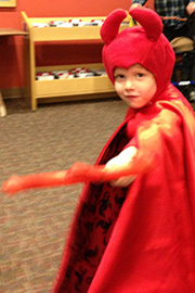 boy dressed as devil