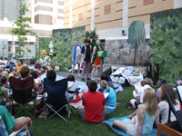 picture of theatre performance in garden