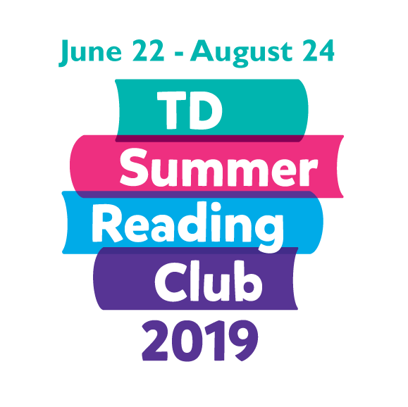 june 22 to august 24 td summer reading club 2019 logo
