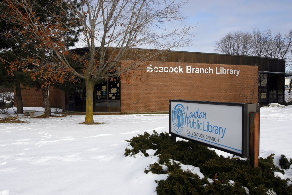 Huron Library Book Study Room