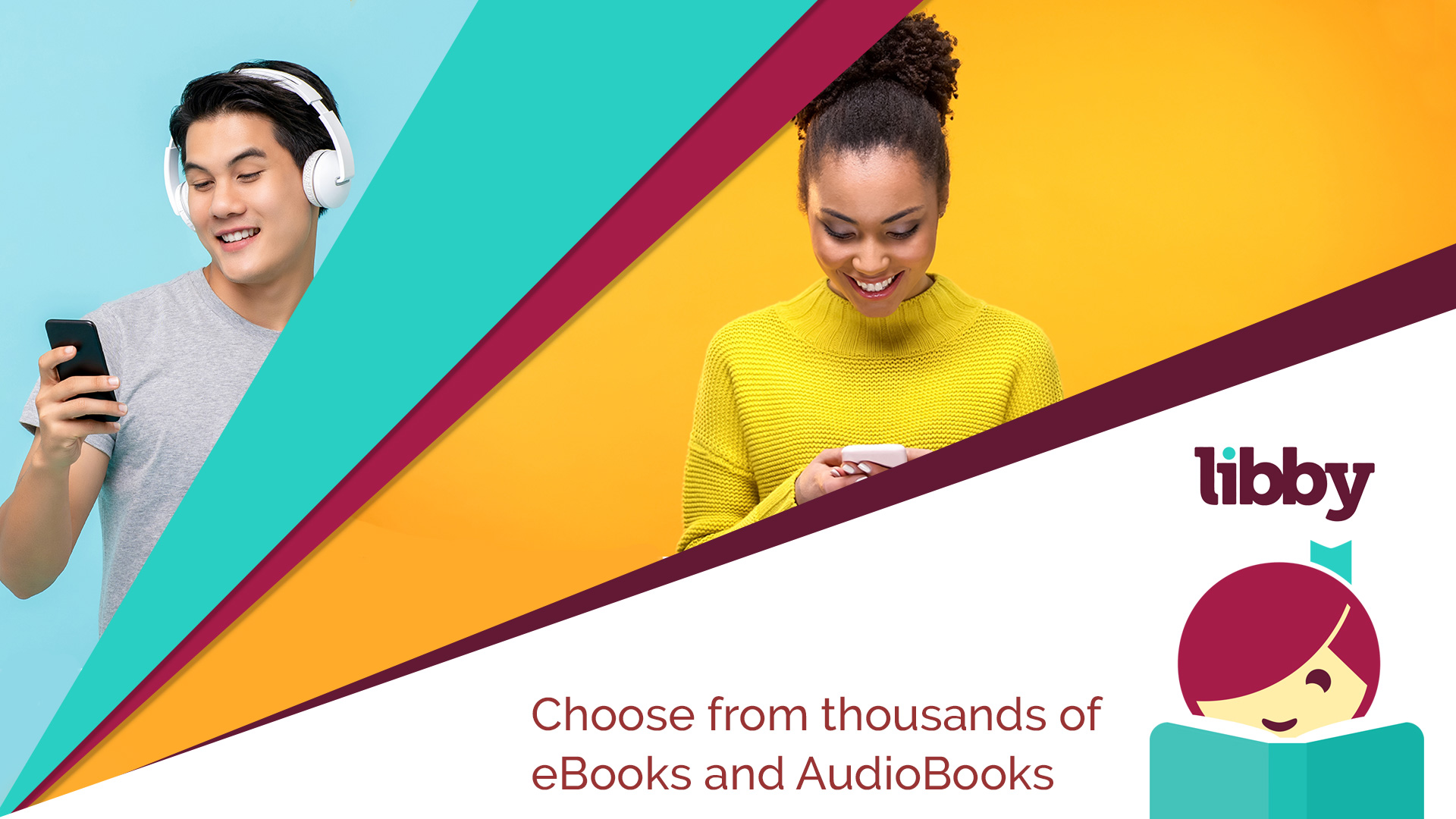 choose from thousands of ebooks and audiobooks
