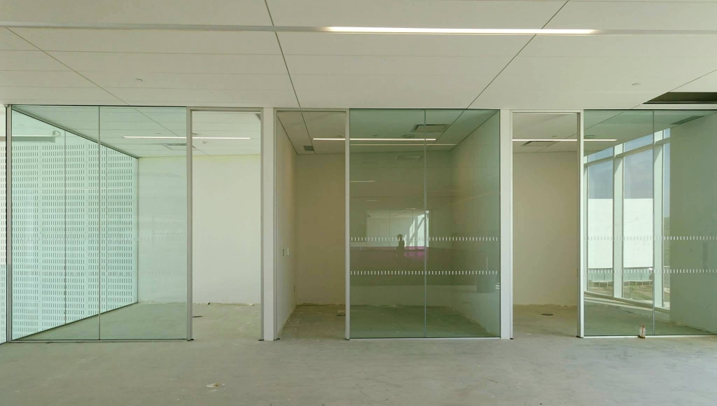 Study rooms on the second level.