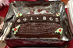 photo of chocolate cake with 641.865 on it