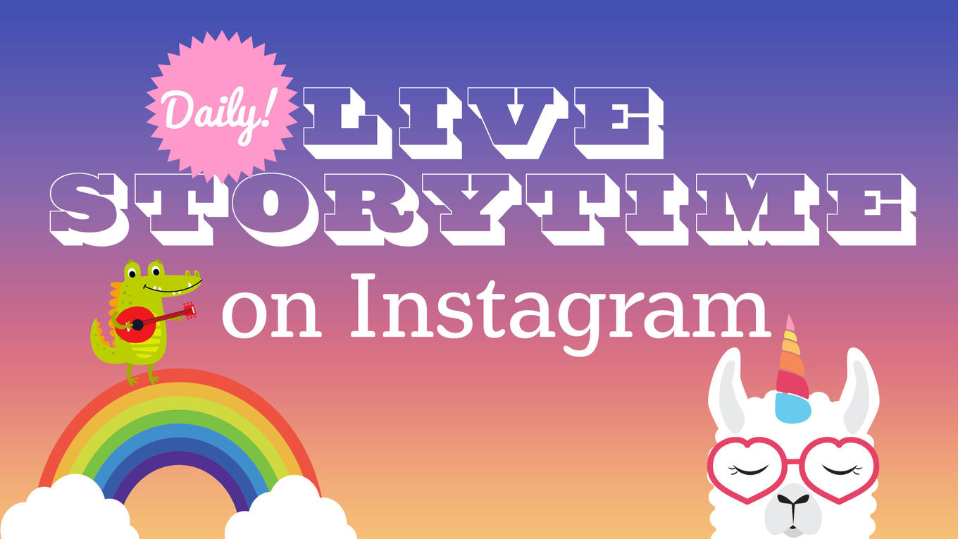 daily live storytime on instagram