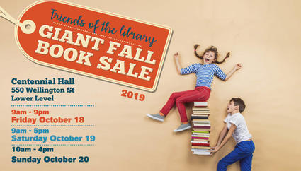 friends of the library giant fall book sale