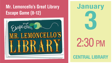 Mr. Lemoncello's Great Library Escape Game (8-12)