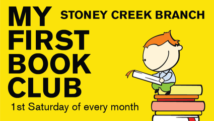 my first book club 1st saturday of the month stoney creek branch