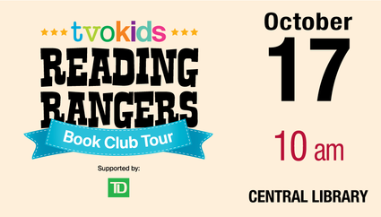 TVOKids' Reading Rangers Book Tour promotional image