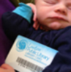 baby with a library card