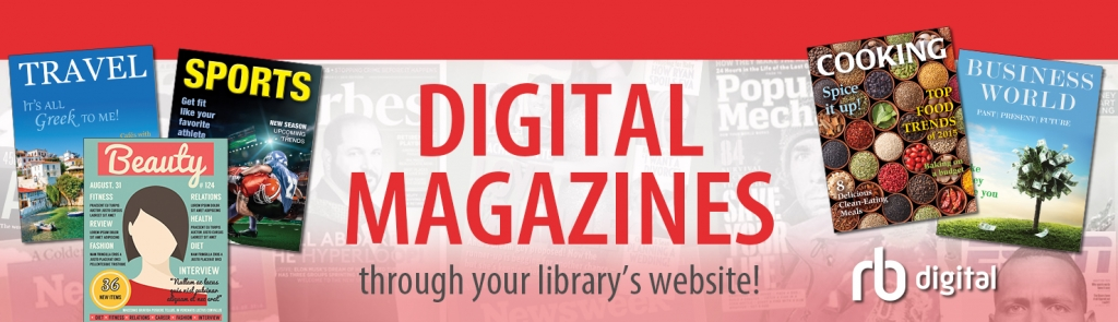 RBdigital - digital magazines through your library's website