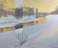 Thames River Harris Park Painting by Kevin Bice