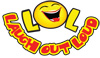 LOL laugh out loud logo with smiley face o
