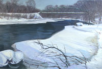 winter at Blackfriers bridge by Kevin Bice