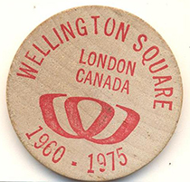 Wellington Square Wooden Nickel