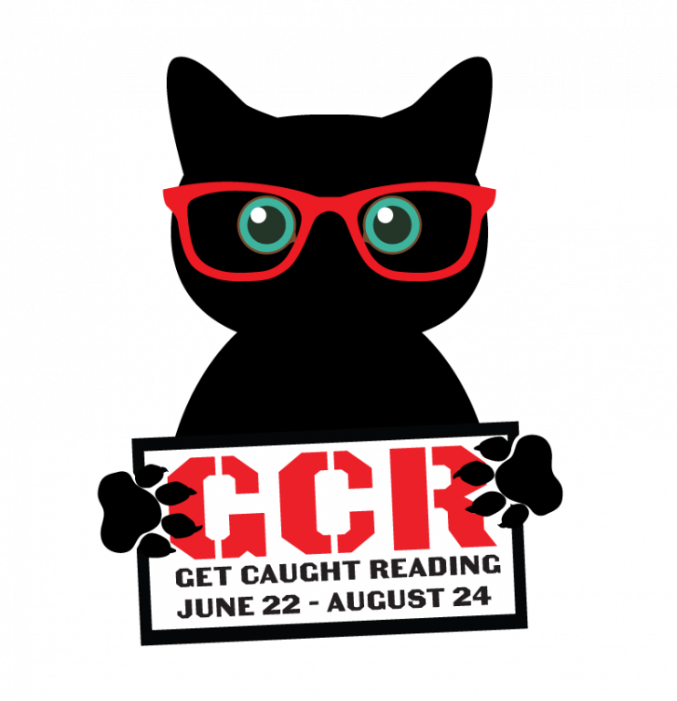 get caught reading june 22 to august 24 logo