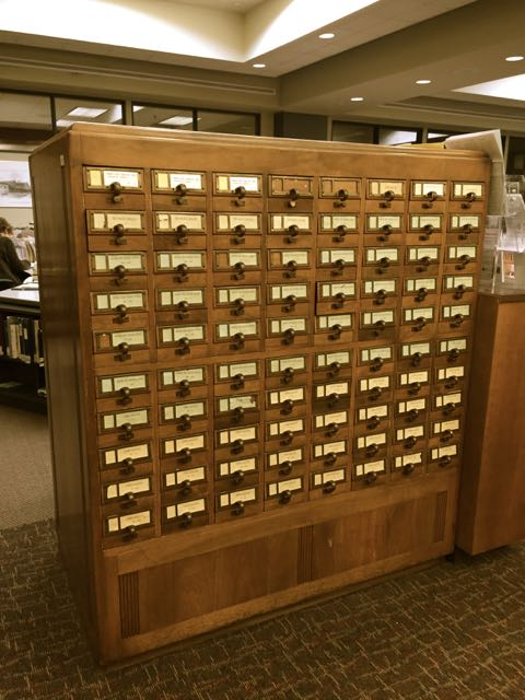 The London Room Card Catalogue