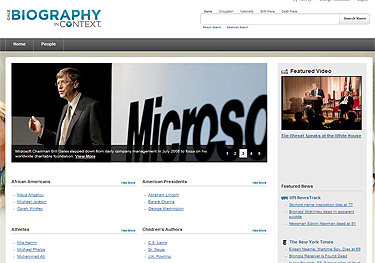 Biography in Context home Page image