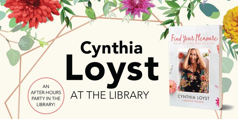 Cythia Loyst at the Library, an after-hours party in the library