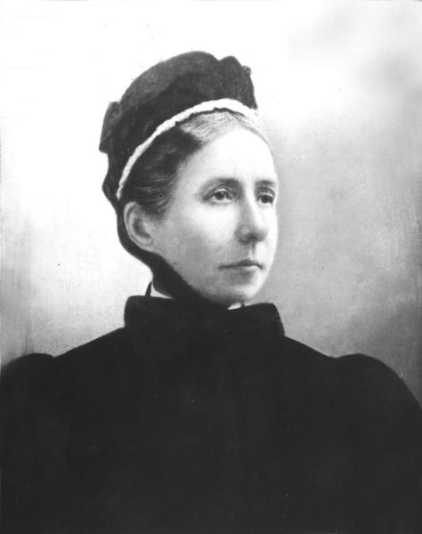 Black and white portrait of Harriet Anne Boomer